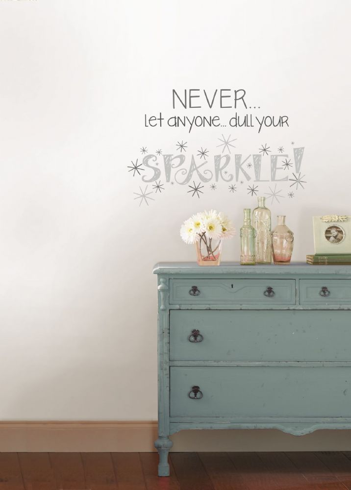 Sparkle Wall Quote Wall Art Sticker